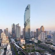 Ole Scheeren's pixelated MahaNakhon tower photographed by Hufton + Crow