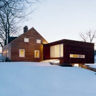 Messana O'Rorke Architects extends New York homestead with weathering-steel annex