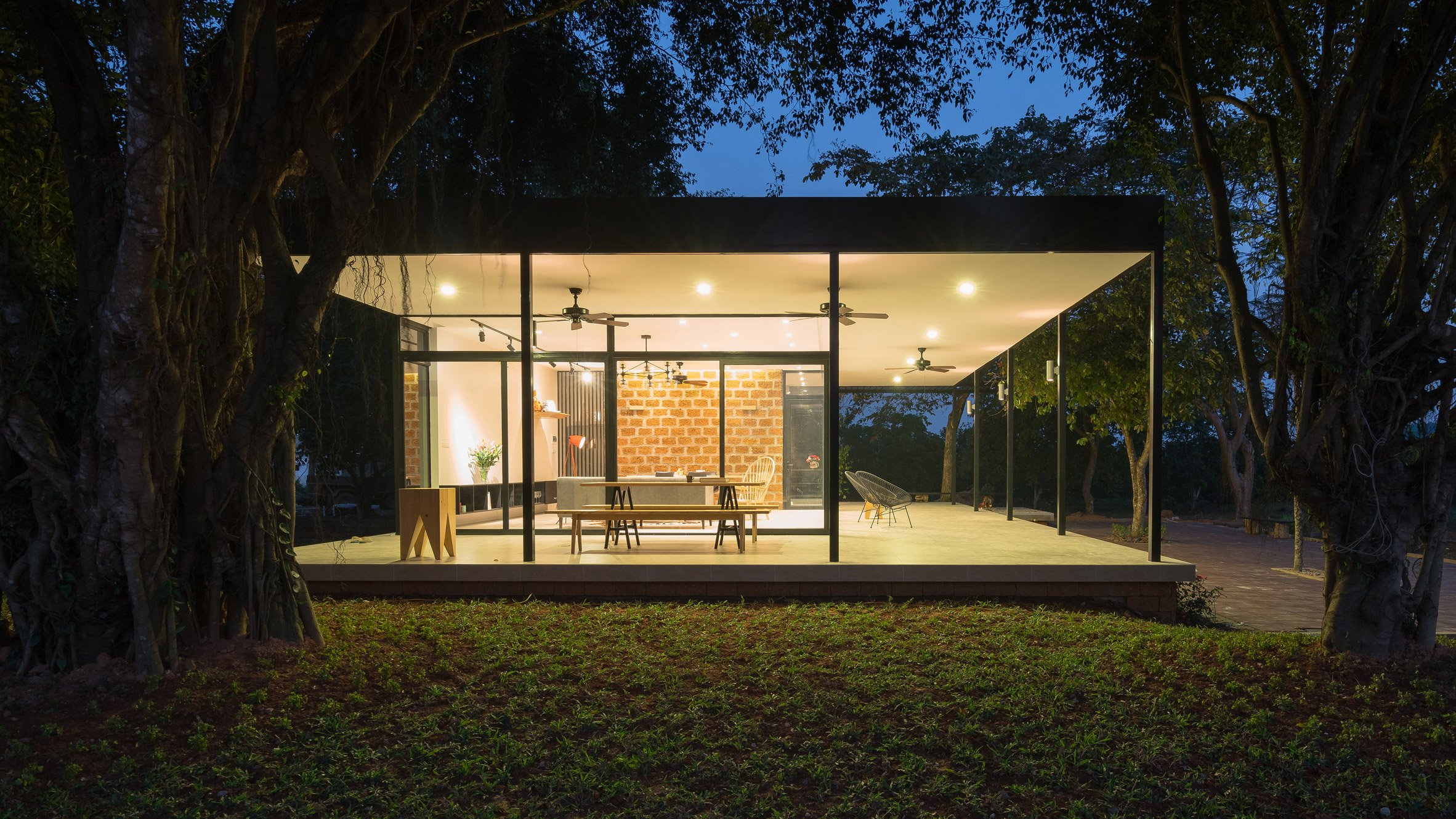 Idee Architects Updates House On Vietnamese Citrus Farm With Pavilion Like Living Space