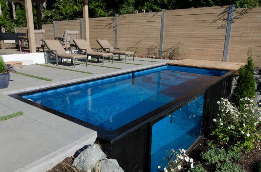 Modpool - cargo container converted into pool
