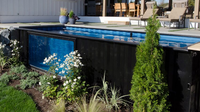 Modpools repurposes used shipping containers as swimming pools and