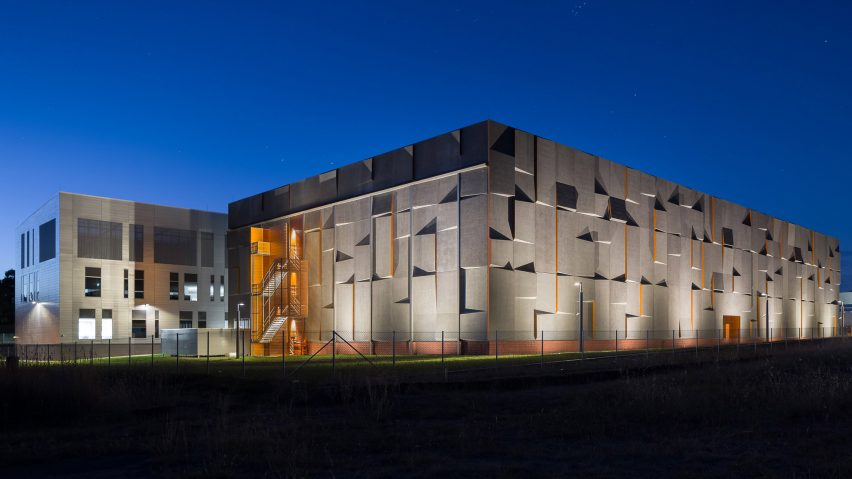 May Russells Australian Archive Building Features Three Dimensional Concrete Facades