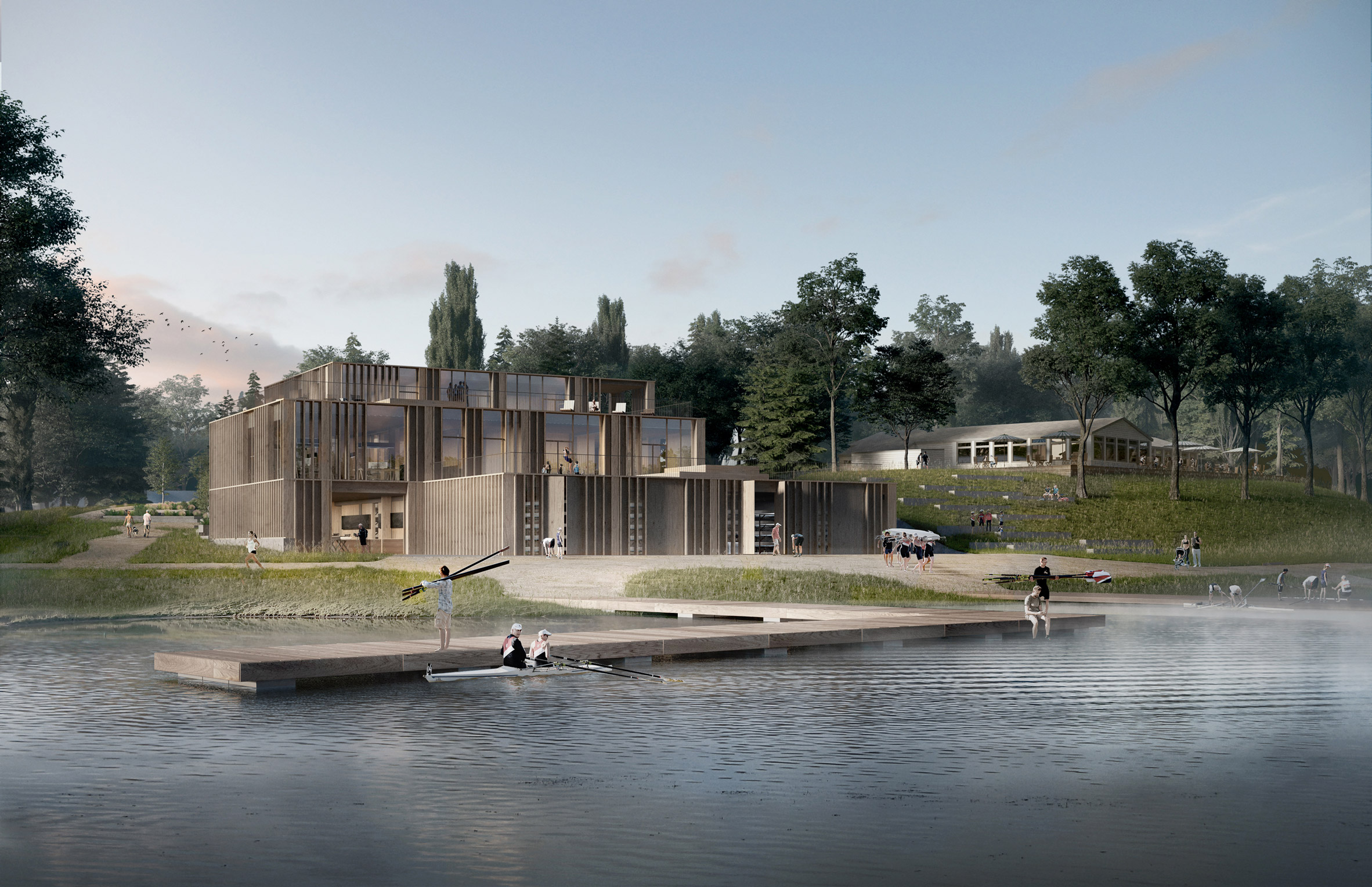 AART reveals designs for national rowing stadium in Denmark