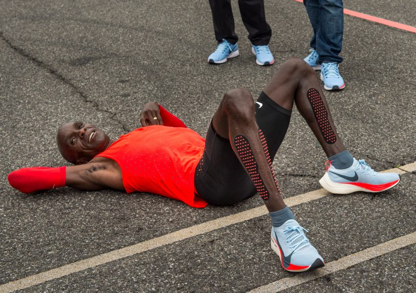 daf219473e44 Kipchoge s finishing time of two hours and 25 seconds was almost three  minutes faster than the official world record.