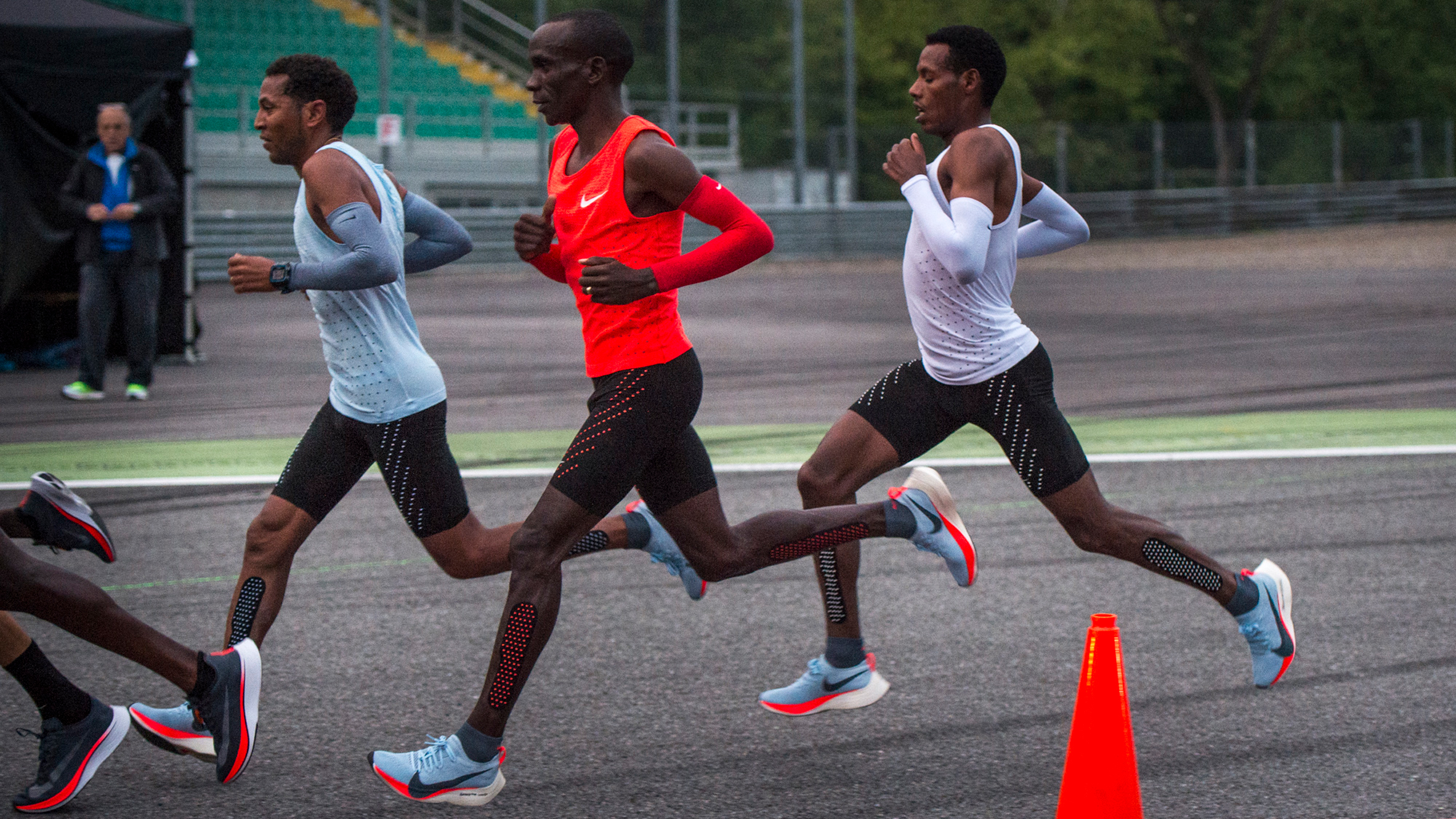 5bd7e20c4f2b6 Athletes wear custom-engineered Nike trainers in attempt to break two-hour  marathon barrier