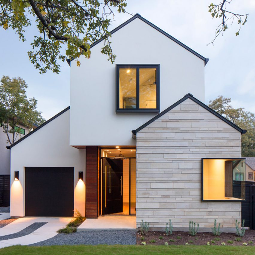 Gabled Home In Austin By Dick Clark Associates