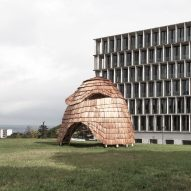 ETH Zurich students create shingle-clad pavilion using robotic fabrication