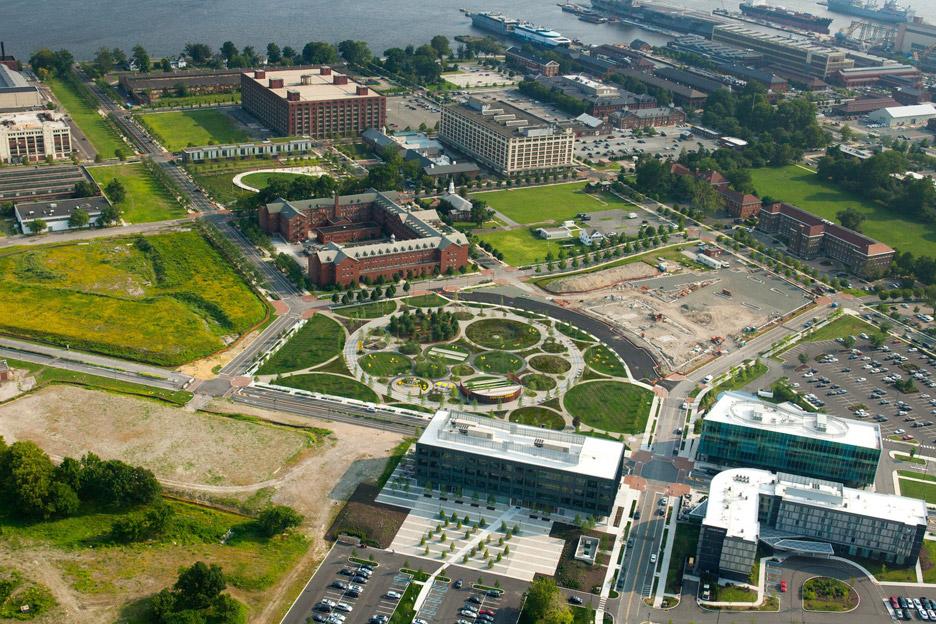 Philadelphia Navy Yards Central Green by James Corner Field Operations
