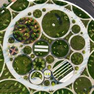 James Corner Field Operations adds circular landscaping to Philadelphia Navy Yards Central Green