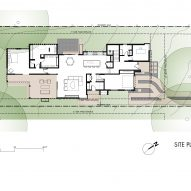 Plan of Palma Plaza Spec residence by Dick Clarke + Associates