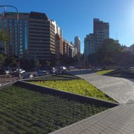 Adamo Faiden completes undulating plaza in Buenos Aires' financial district