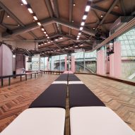 AMO uses mirrors and millennial pink to create a disorientating catwalk for Prada Resort show