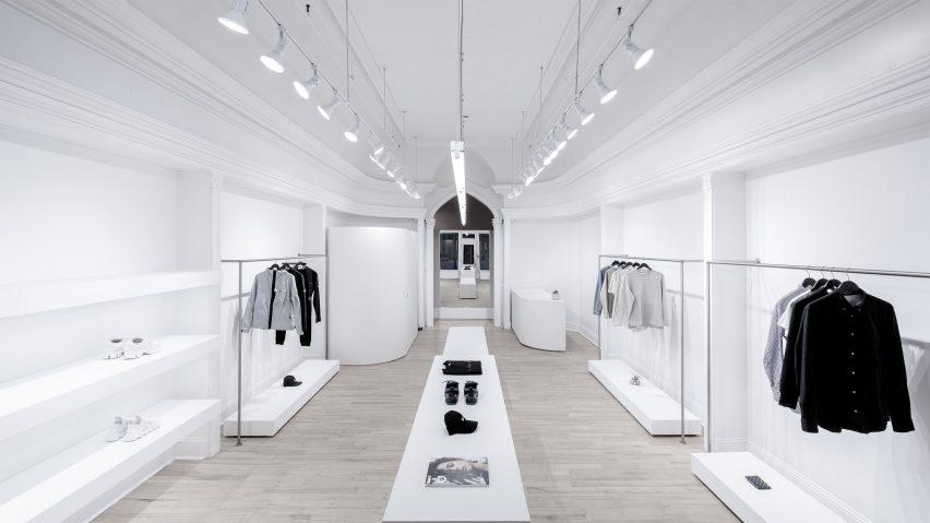 quality design 3047a 95d07 Omar Gandhi Architects creates minimal Rchmnd fashion store ...