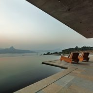 Pavilion-like house offers spectacular views of India's Western Ghats mountains