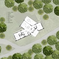 Plan for Ridge House by GriD Architects