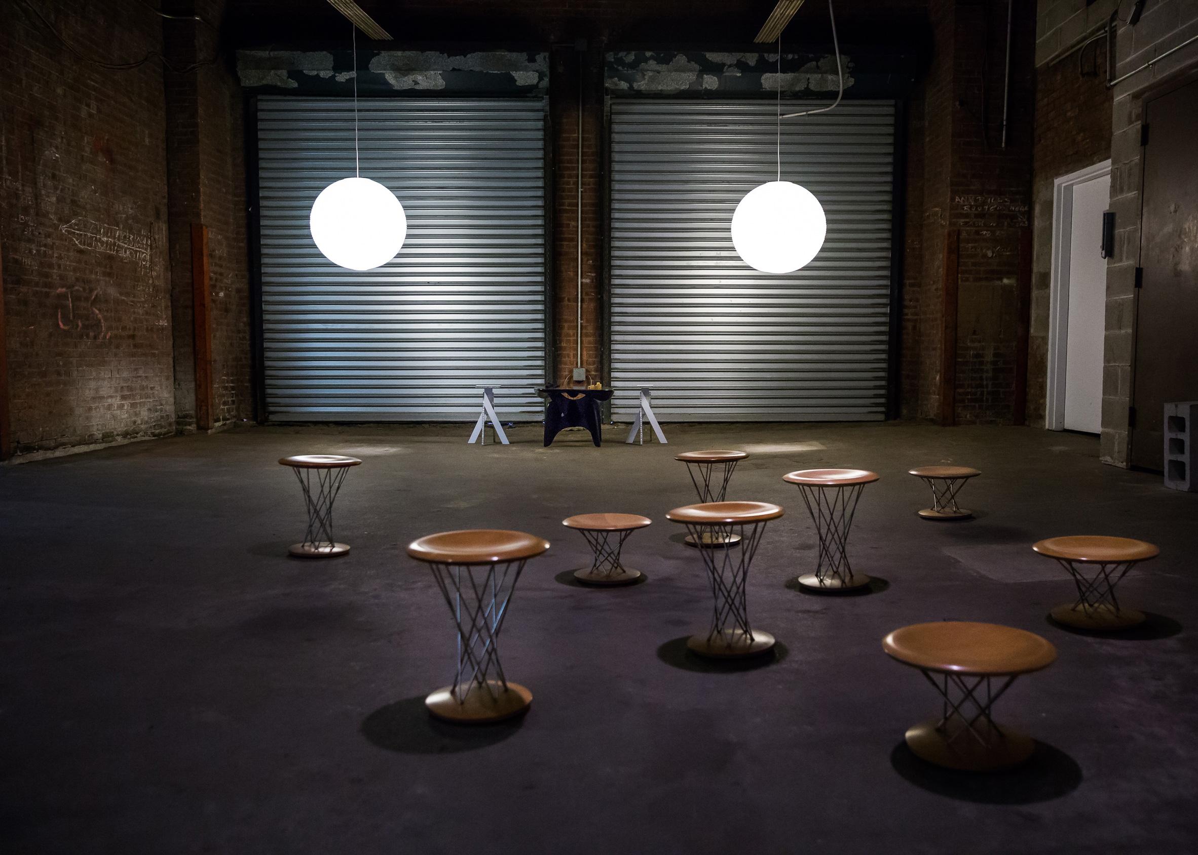 Robert Stadler x Isamu Noguchi installation at Collective Design 2017. Photograph by Scott Rudd