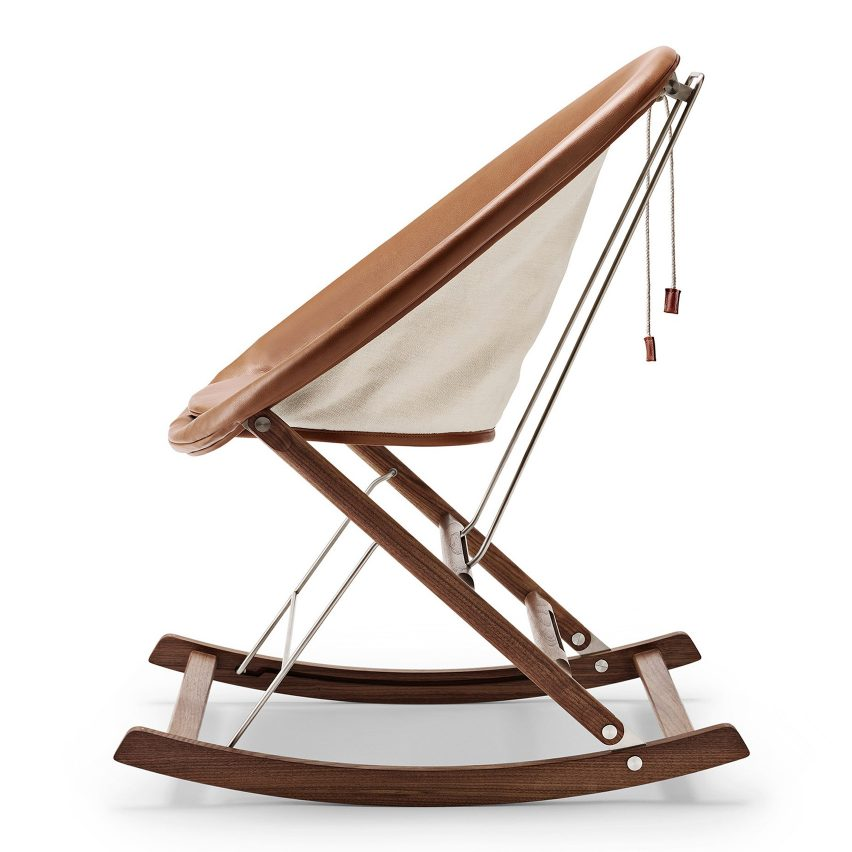 Anker Bak rocking chair for Carl Hansen & Son