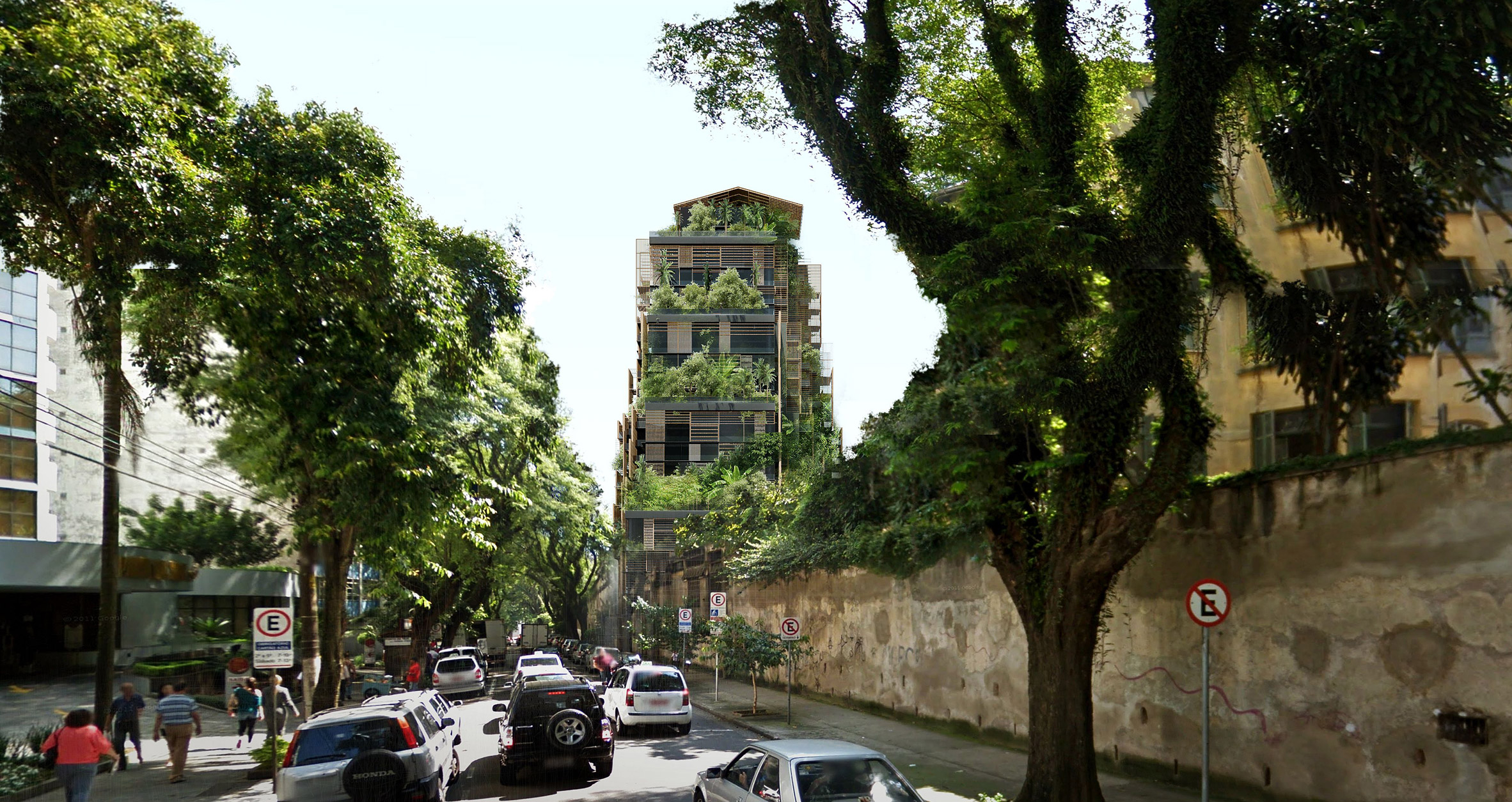 Jean Nouvel designs plant-covered hotel for historic district of São Paulo