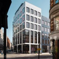 Hand-glazed tiles cover Savile Row office building by EPR Architects