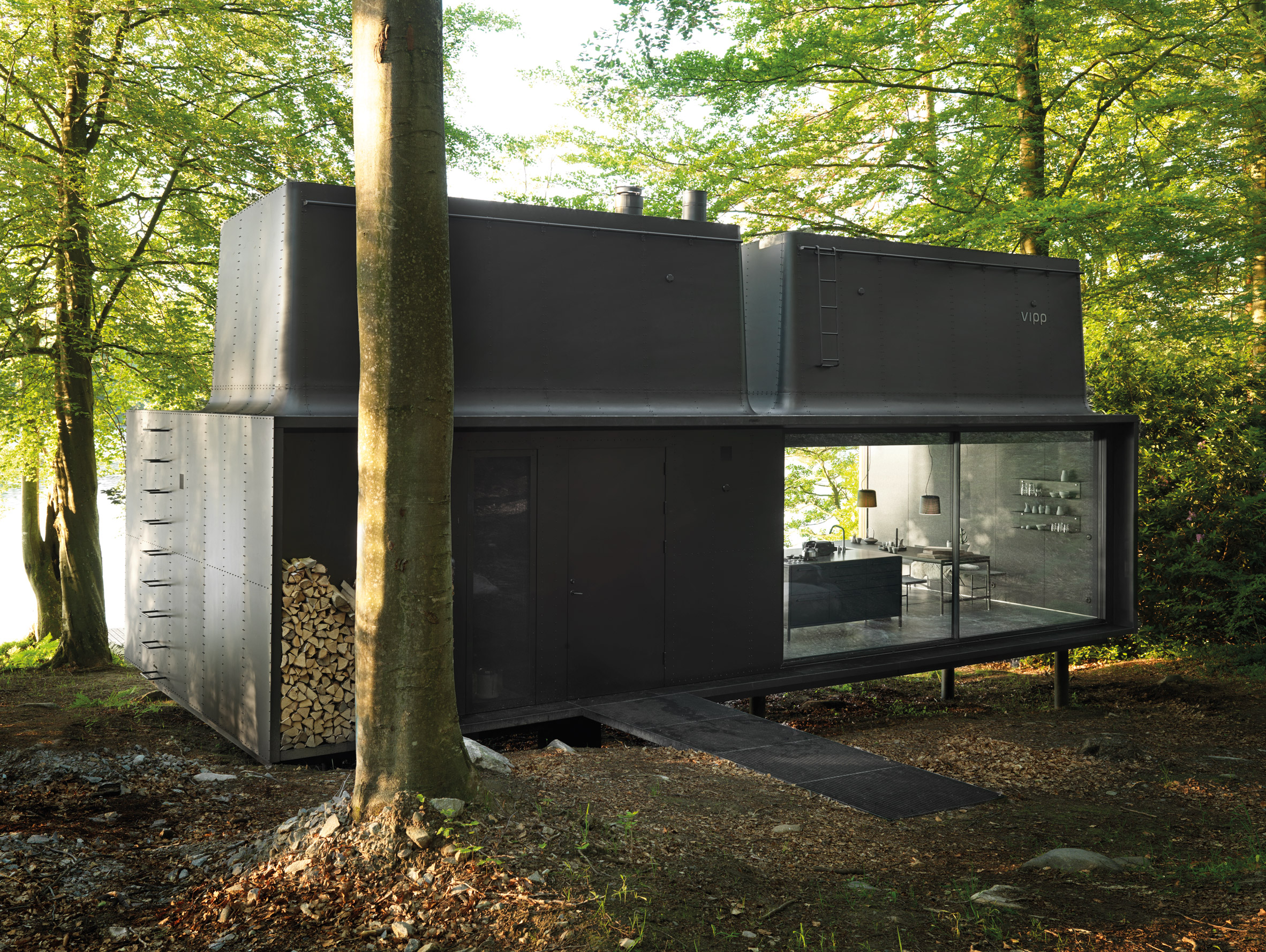 "Vipp prefabricated cabins are designed as ""battery-charging stations for humans"""