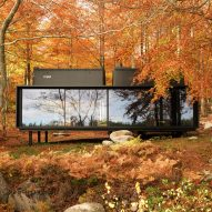 "Vipp prefabricated cabins designed as ""battery-charging stations for humans"""