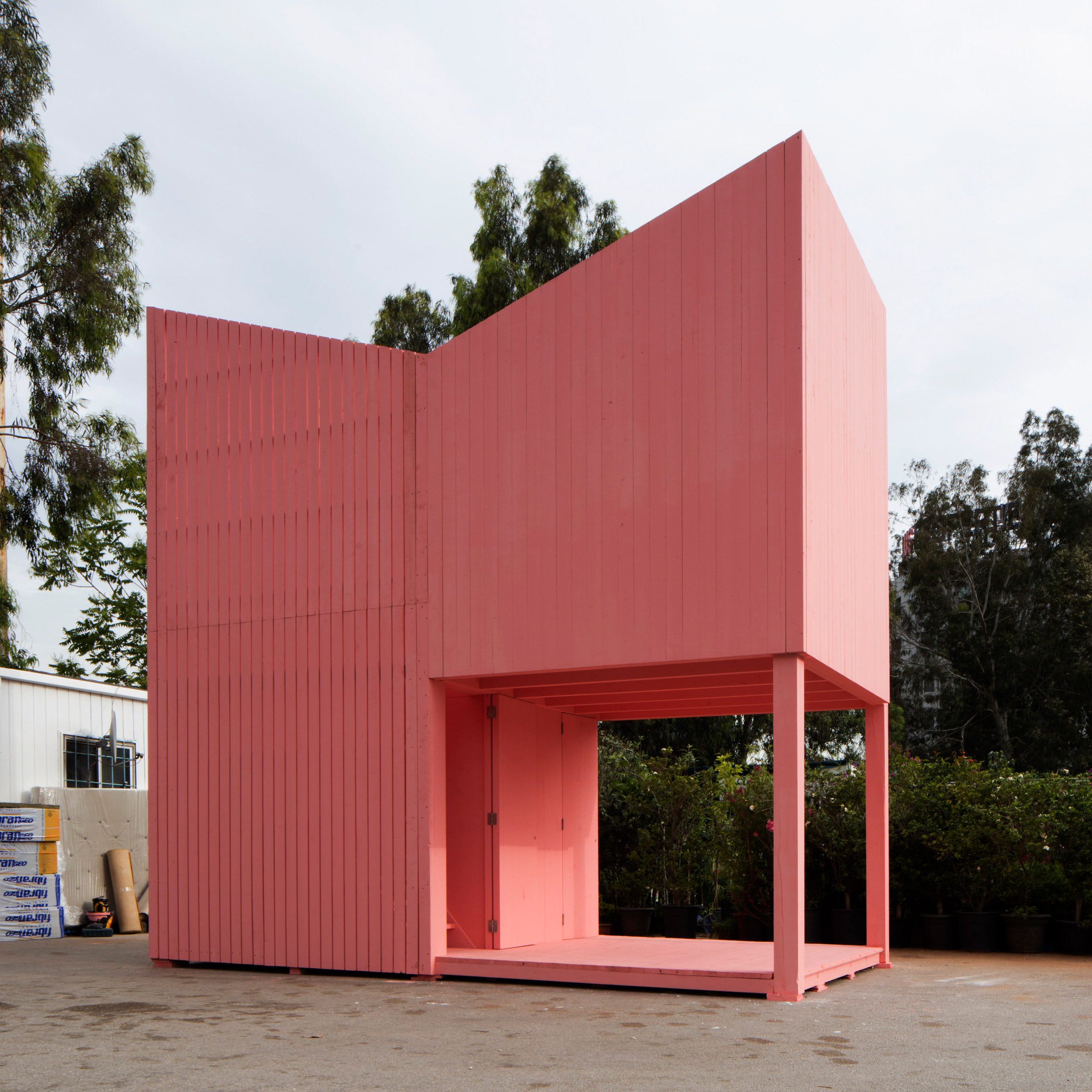 All-pink Silent Room creates quiet sanctuary beside a Beirut highway