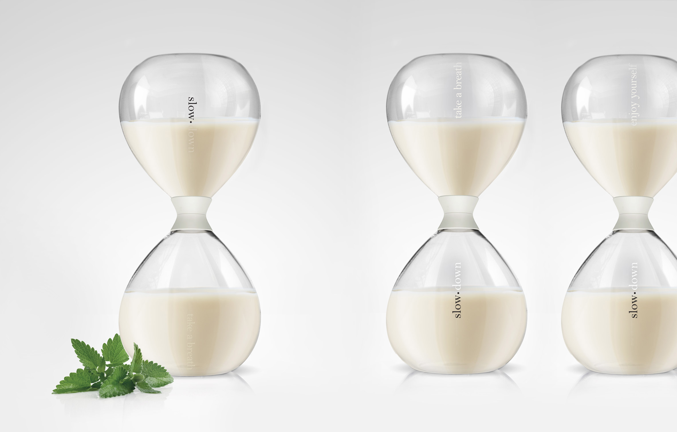 Anti-energy drink Slow comes enclosed in meditative hourglass packaging