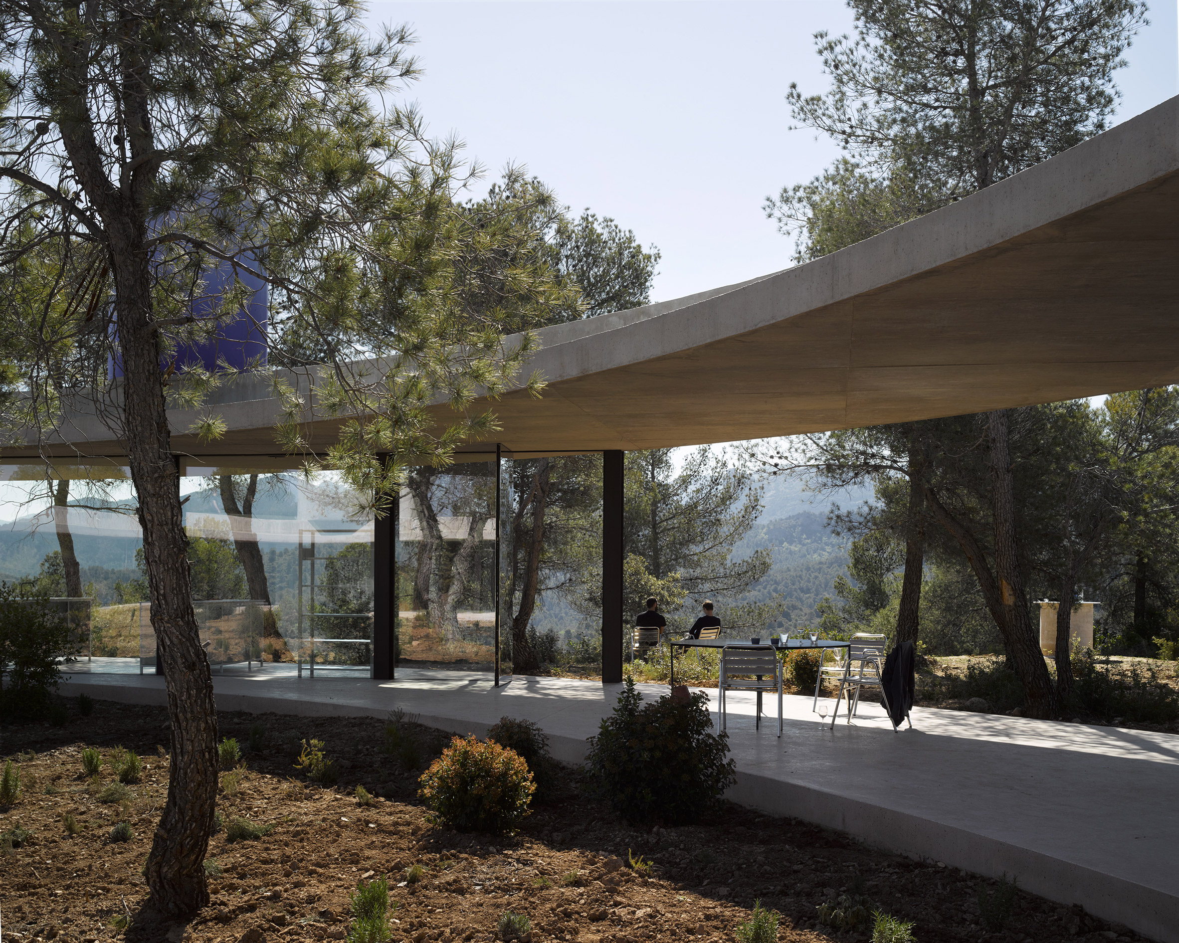 Solo House II by Office KGDVS encircles forested hilltop in Matarraña
