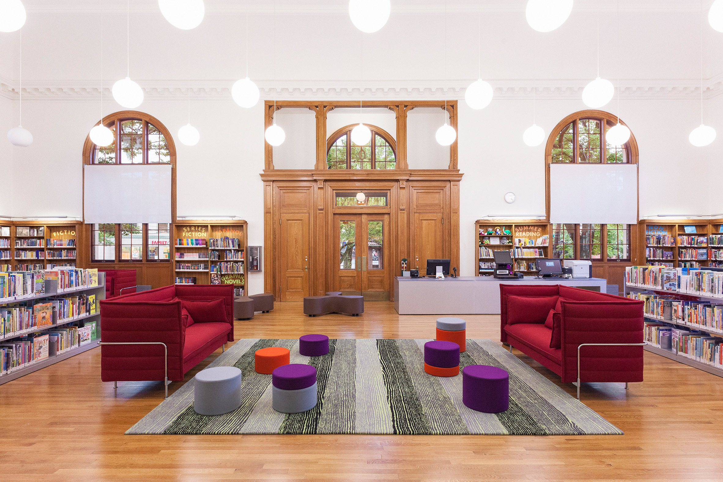 Andrew Berman Architect adds timber-framed extension to old Staten Island library