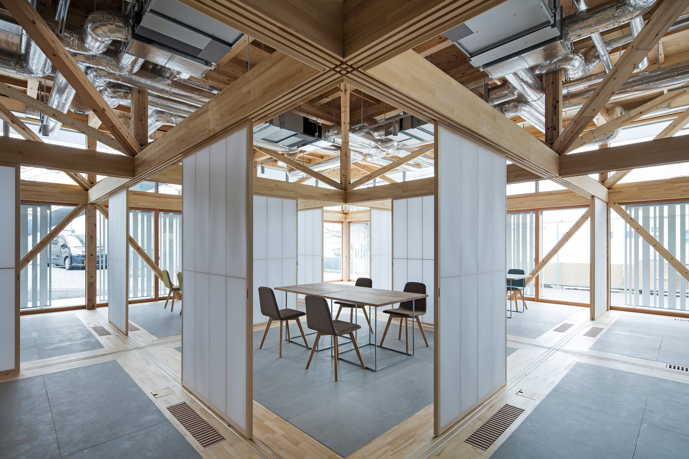 Removable walls offer endless configurations for community space by Aki Hamada