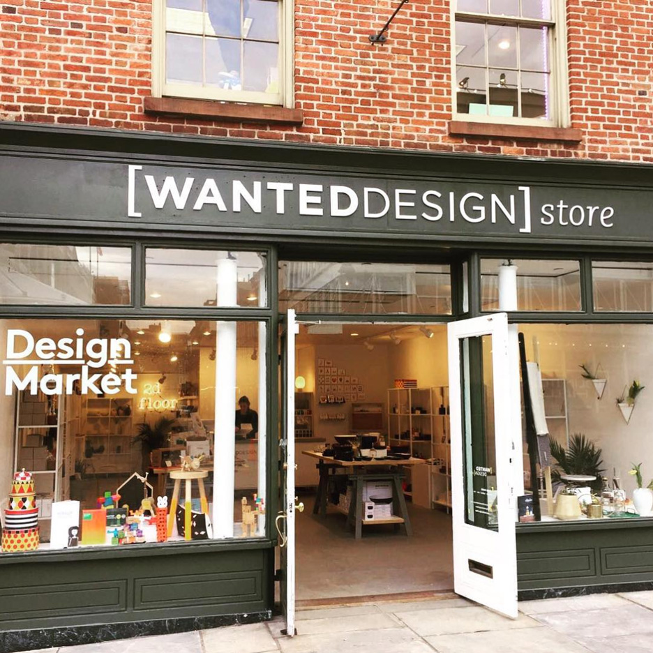 WantedDesign store at South Street Seaport