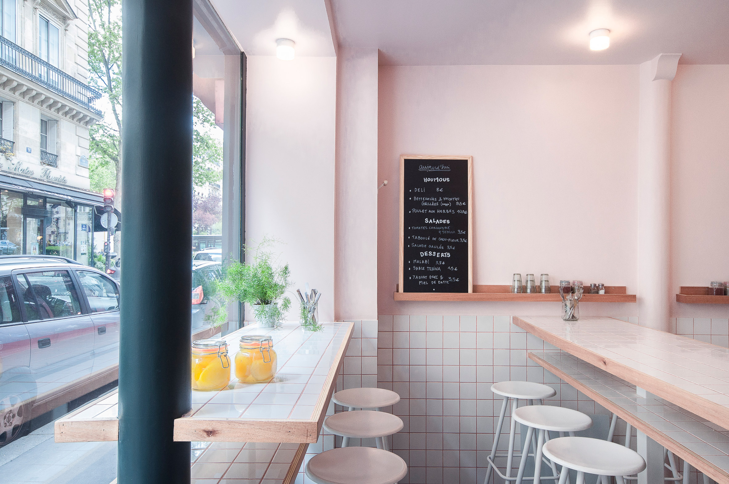 """Joyful chaos"" inspires design of Yafo hummus deli in Paris"