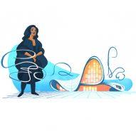 Google Doodle remembers Zaha Hadid's 2004 Pritzker Prize win