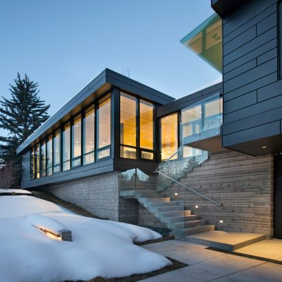 Studio B Wraps Elevated Aspen Home In Zinc And Glass