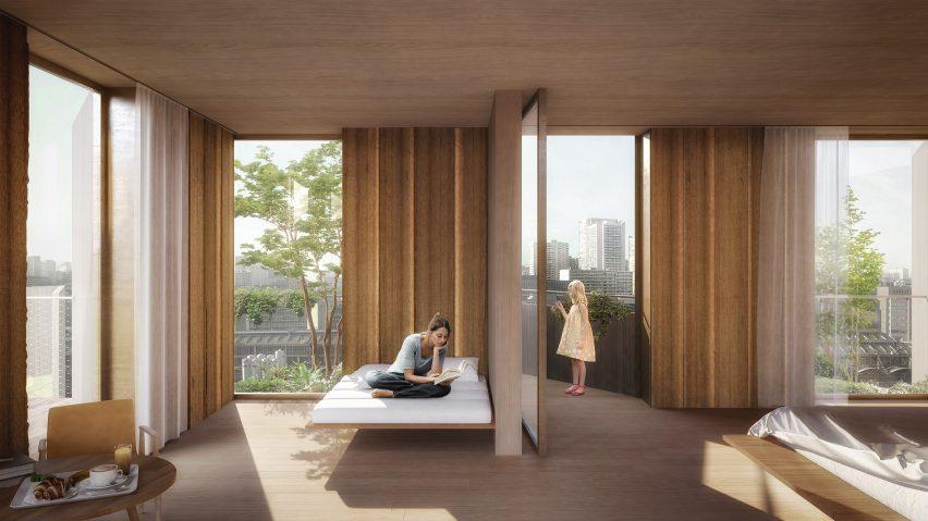 japanese garden minecraft build team kengo kuma reveals plant covered eco luxury hotel for paris