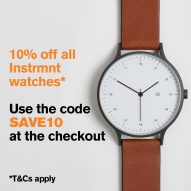 Dezeen Watch Store offers 10% discount on all Instrmnt watches this weekend