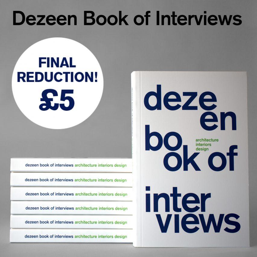 Dezeen Book of Interviews only £5