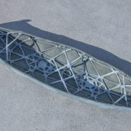 3D printed concrete canoe by ETH Zurich
