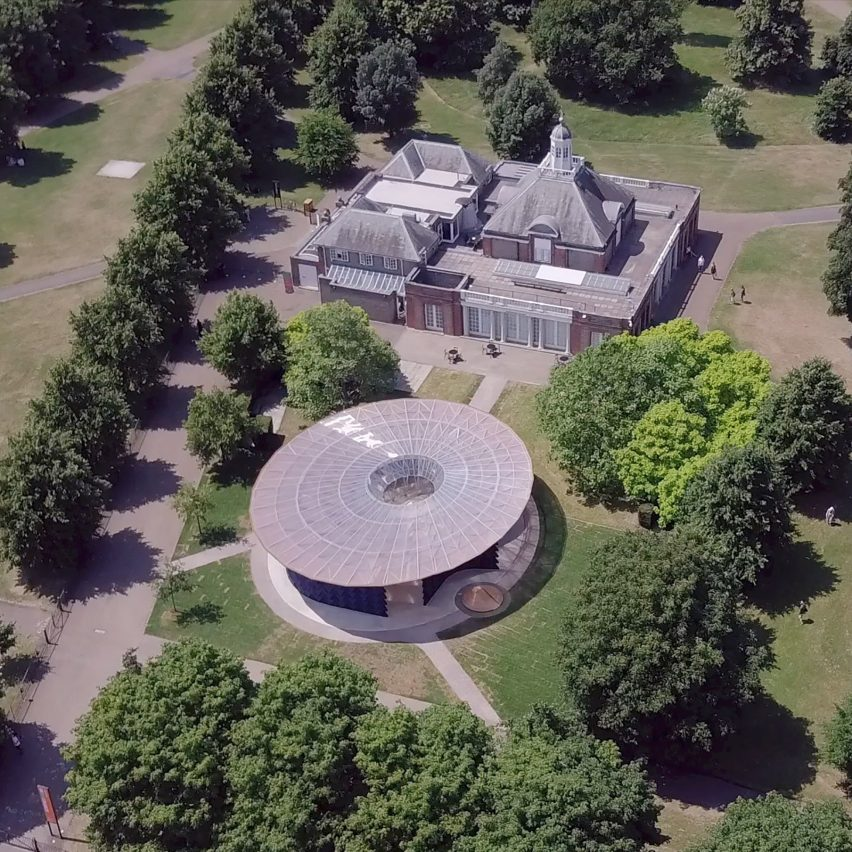 Serpentine Gallery Pavilion 2017 shot by drone
