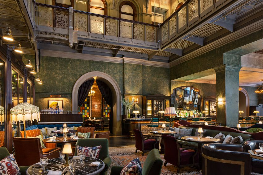 Martin Brudnizki's AHEAD nominated design for the Beekman Hotel in New York