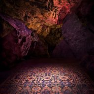 ABC Carpet & Home showcases new rug collection in an underground cave