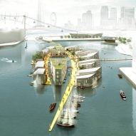 Baca Architects proposes floating settlements to combat overcrowding in cities