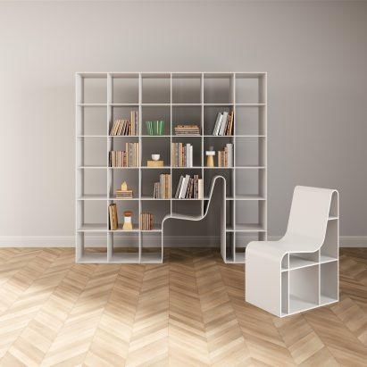 Delightful Sou Fujimoto Designs Hybrid Bookshelf And Chair For Alias