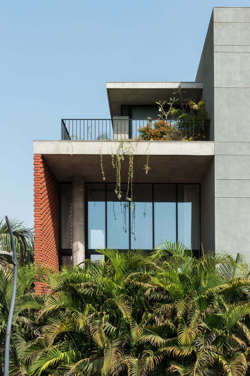 Brick Curtain House By Design Work Group Pictures