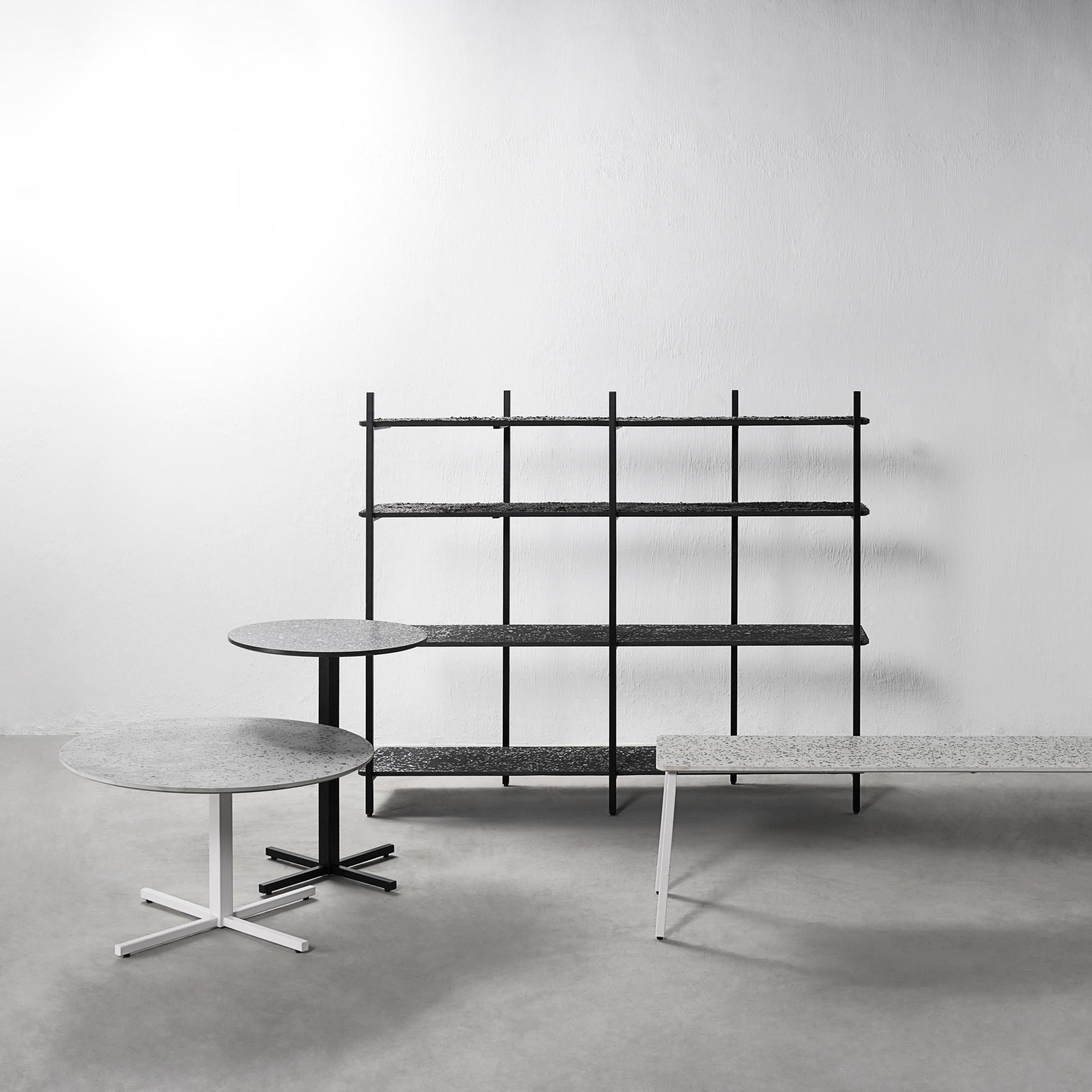 Bentu Design makes terrazzo furniture using recycled ceramic waste
