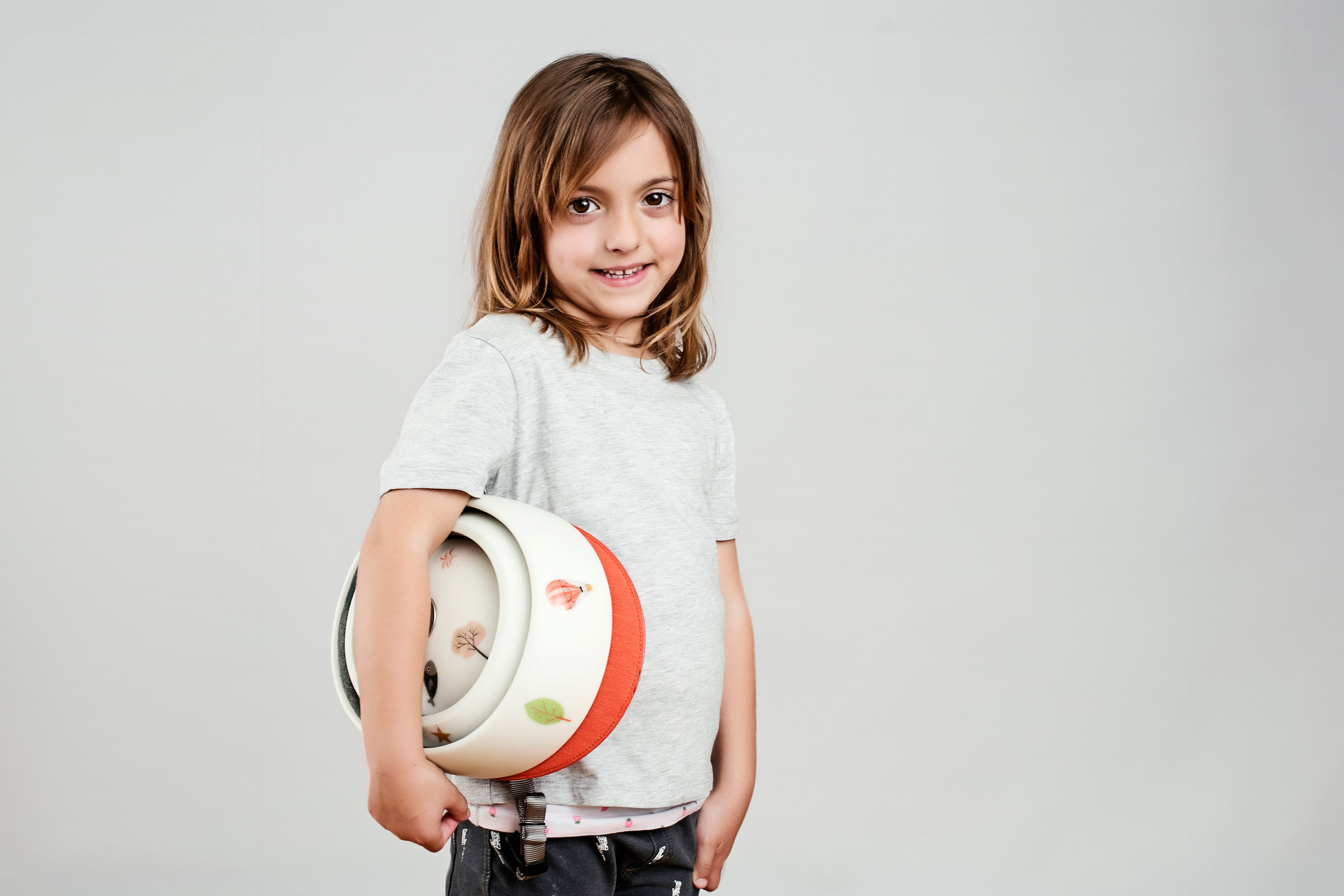 Closca's first folding helmet for children comes with its own sticker collection
