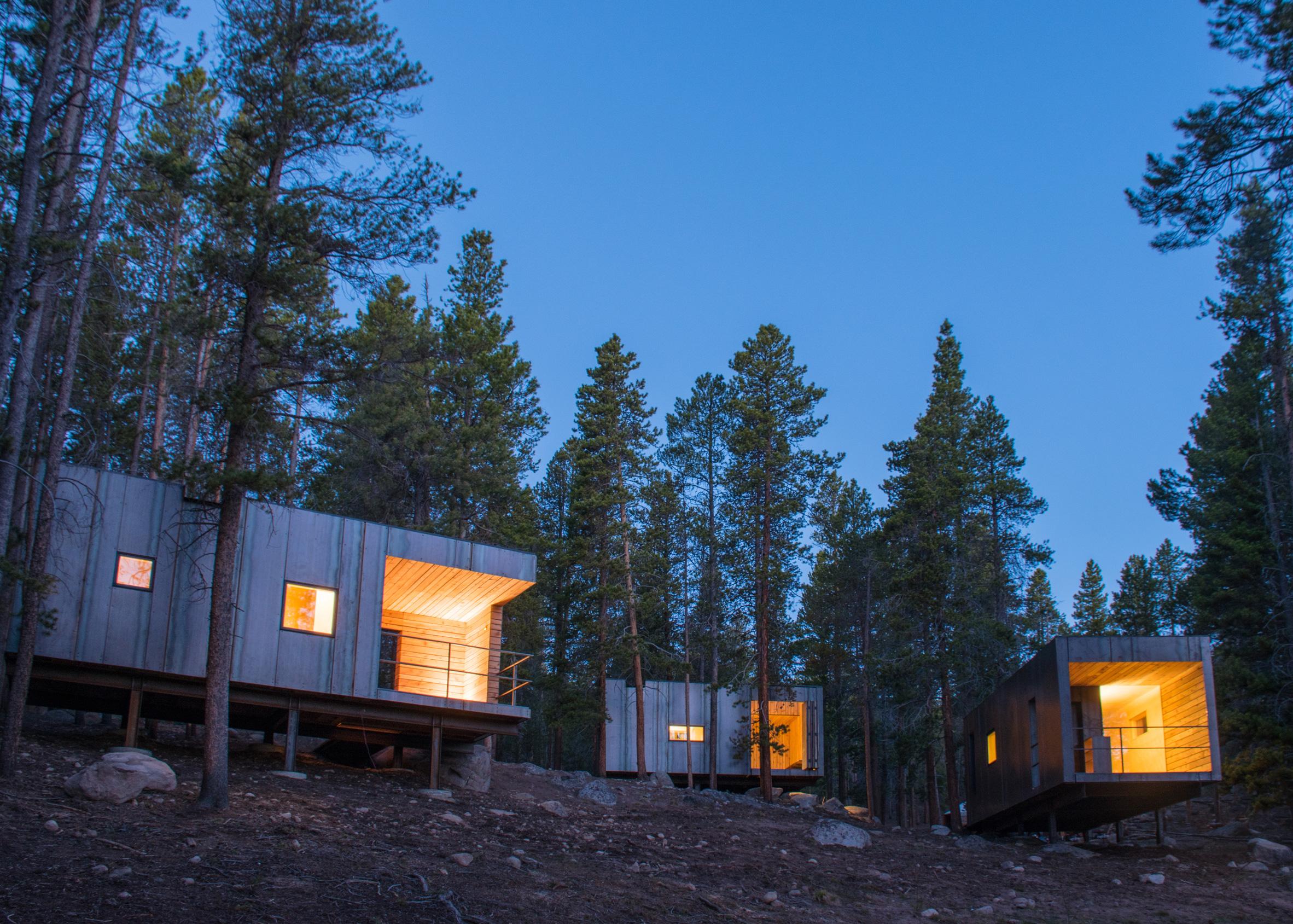 Colorado Outward Bound Micro Cabins, Leadville, Colorado, by University of Colorado, College of Architecture and Planning, Colorado Building Workshop