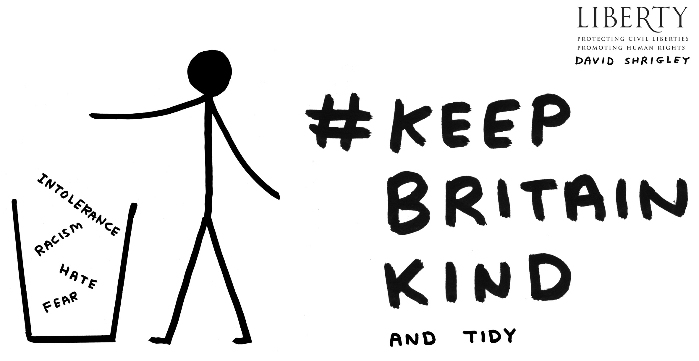 """David Shrigley urges government to """"keep Britain kind"""" with new illustrations"""