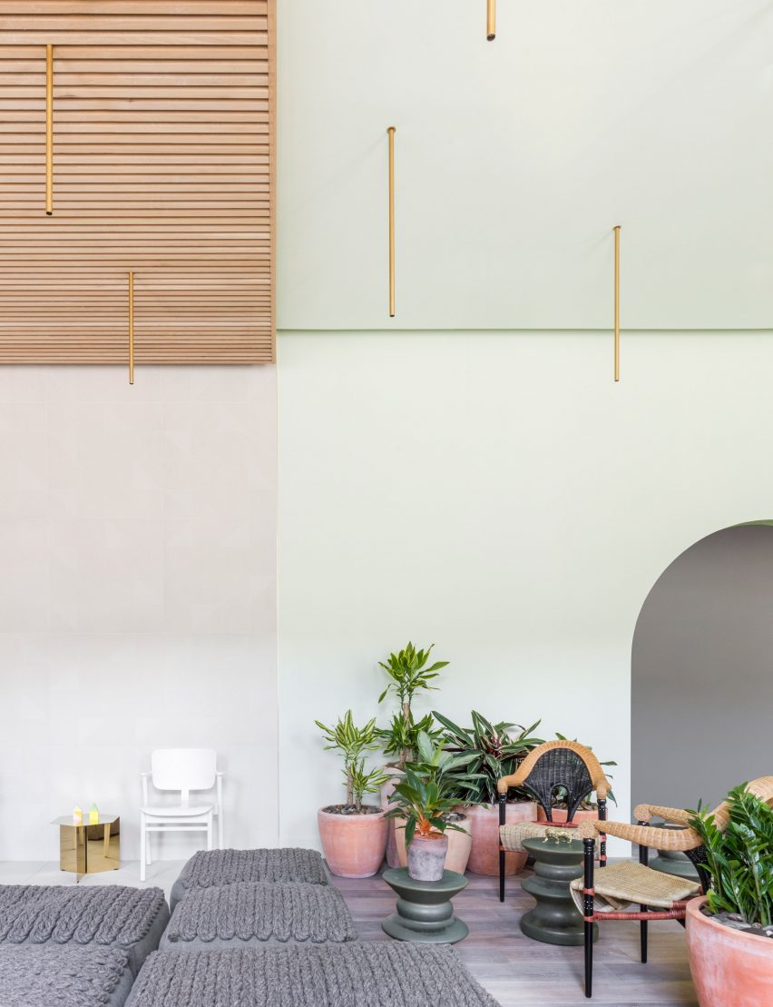 "grzywinski + pons creates ""sophisticatedly tropical"" interiors for"