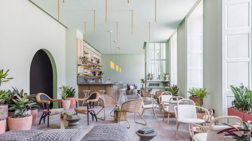 grzywinski pons creates sophisticatedly tropical interiors for